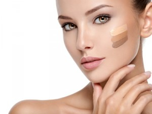 maquillage, fond de teint